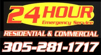 24 Hour Emergency Plumbing Service - Call 305-281-1717